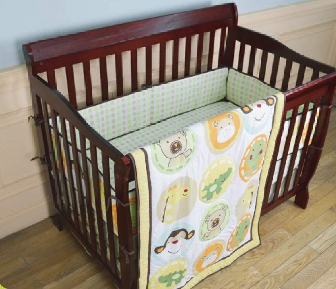 Nursery Crib Comforter 1 PC Navy Star/Brown Animal/Pink Animal/Sports Baby Crib Quilt Baby Girl/Boy Gift Idea (Brown Animal)