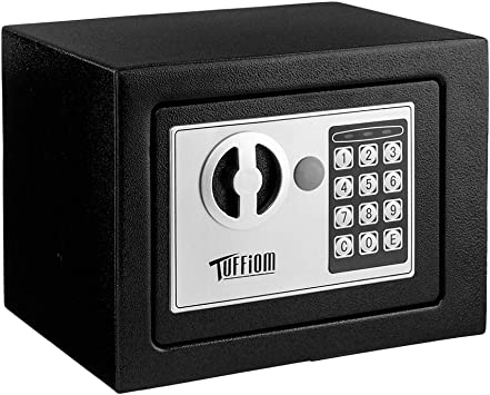 Amazon Com Mini Safe Electronic Digital Security Safe Box Password Keypad Key Lock For Home Office Hotel Business Use Jewelry Gun Cash Valuables Storage Solid Steel With 4 Batteries Home Improvement