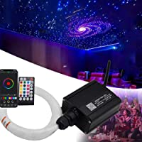 16W Car Home Use Twinkle Light Engine Driver, RGBW LED Fiber Optic Star Ceiling Light Kit with 28Key Remote Controll…