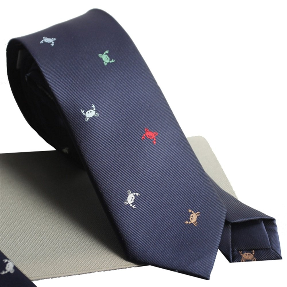Dig Dog Bone Mens Tie Fun Colored Crab-Dyed Jacquard Craft Mens Gift Box Tie