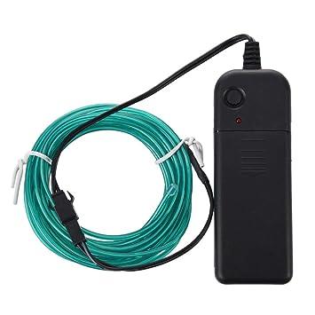 Amazon.com: SODIAL(R) 3M White Flexible Neon Light EL Wire Rope Tube ...