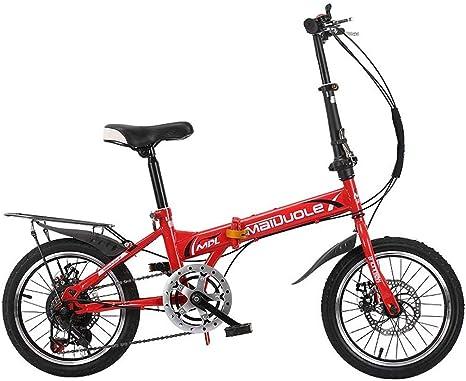 Xiaoping Bicicleta para niños Plegable 7-8-10-15 años Bicicleta ...