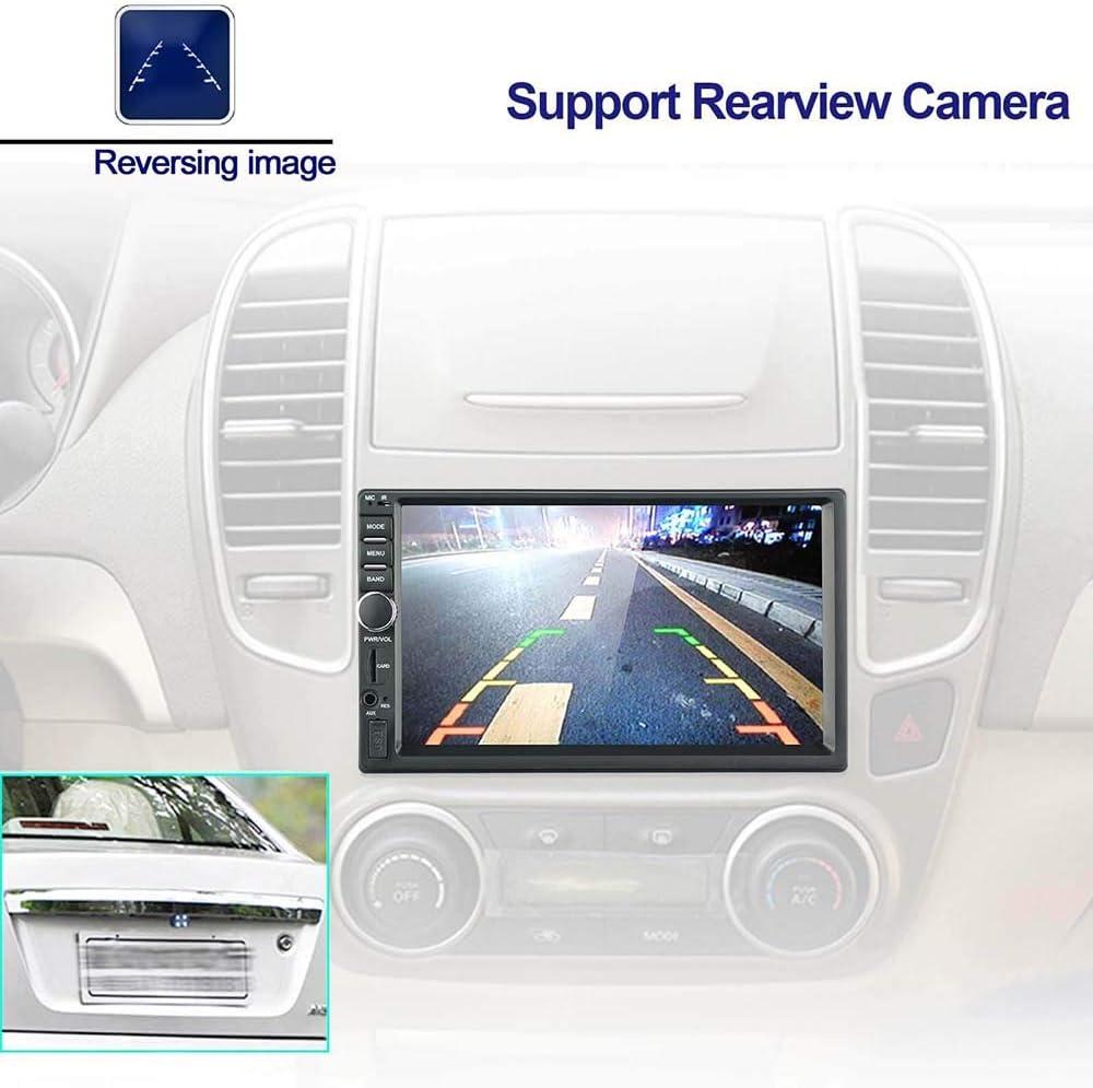 Radio de autom/óvil con pantalla t/áctil de 7 pulgadas con Bluetooth GPS Soporte AUX SD WIFI Control del volante MirrorLink USB LEXXSON Android 9.0 Est/éreo para autom/óvil de 2 Din con navegaci/ón