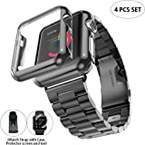 Kuty Compatible with Apple Watch Band 40mm, with Protective Case and Protector scree, for Apple Watch Series 5/4 (40MM, Classic Black)