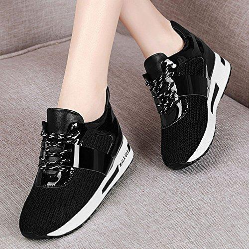 Mujer Heighten Zapatillas 40 Zapatos Mujer Zapatos otoño Correr Color Up Deportivos tamaño de de Zapatos Verano Primavera Punto Low de Deporte de Negro Zapatos de para U4Epwq6