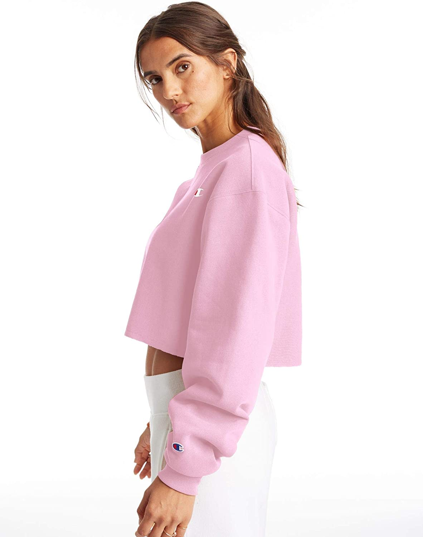 Details about  /Women/'s Champion NWT Reverse Weave Crop Crew Sweatshirt Size M XL $90