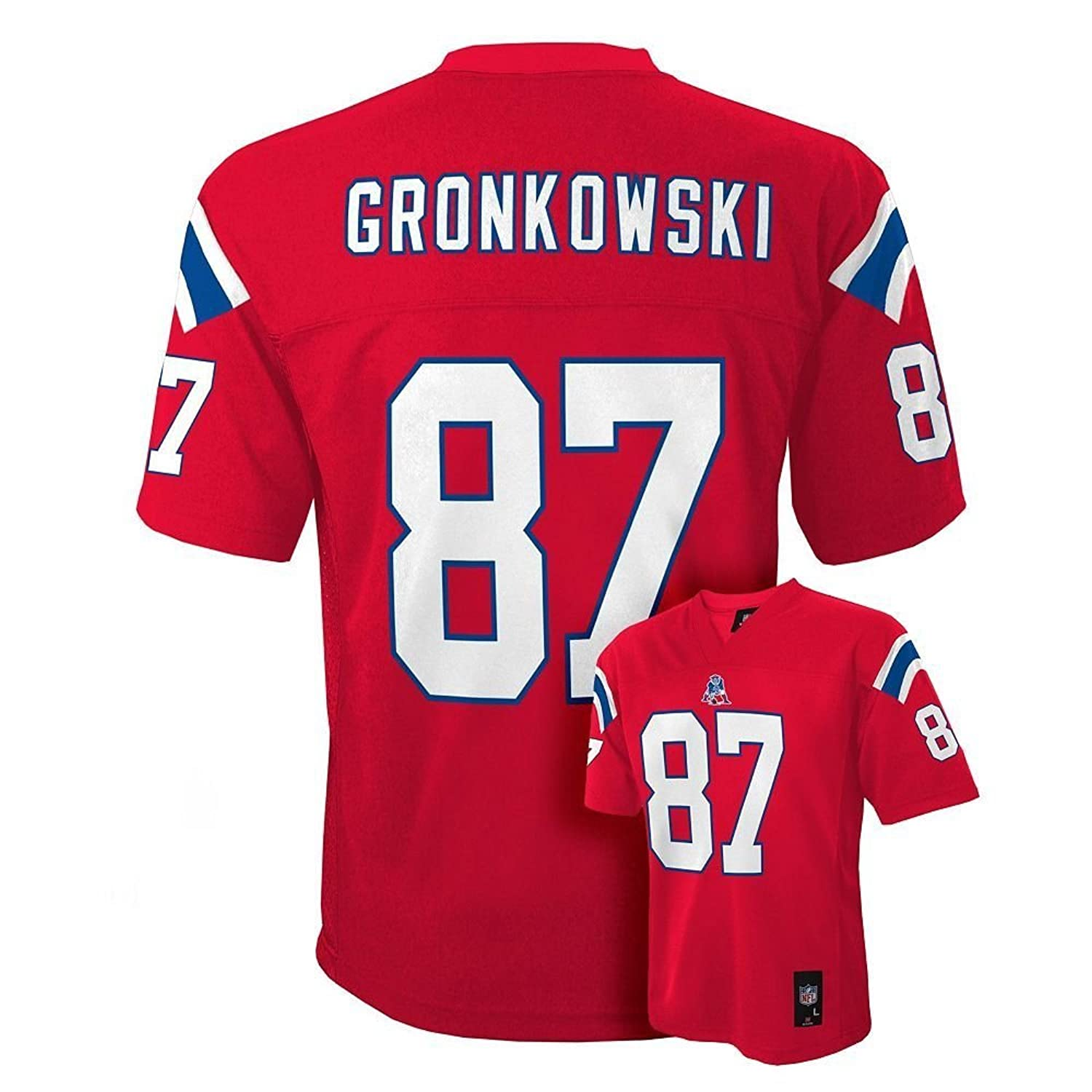 Amazon.com  Rob Gronkowski New England Patriots NFL Youth Red Alternate  Mid-Tier Jersey  Clothing a0f47a299