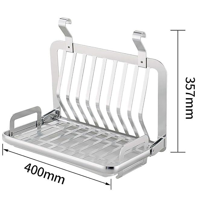 Estantes y soportes para ollas y sartenes Bastidores de cocina estante para platos K0080 espacio estante para platos de aluminio porta cuchillos especiero ...