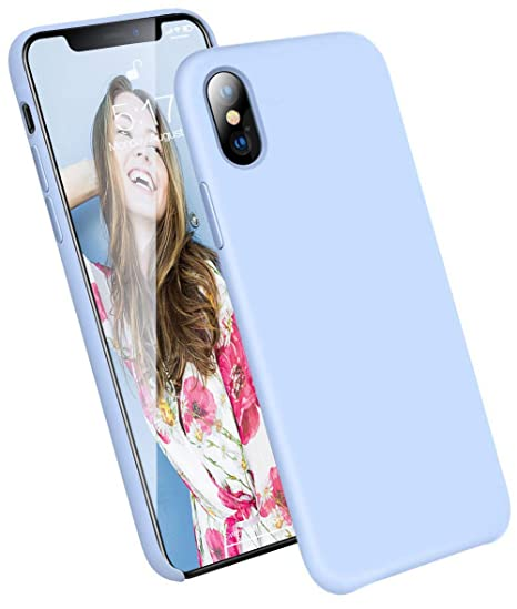 iphone xs max case silicone light blue