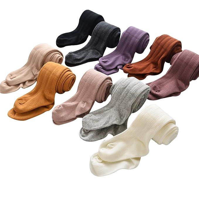 Amazon.com: Leggings de algodón para niñas 2-10T ballet liso ...