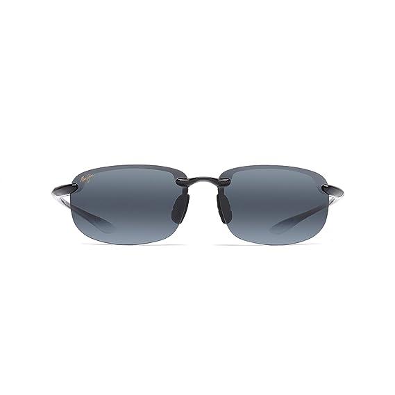 10d1d977c6e Maui Jim 407-02 Black Hookipa Rimless Sunglasses Polarised  Maui Jim   Amazon.co.uk  Clothing