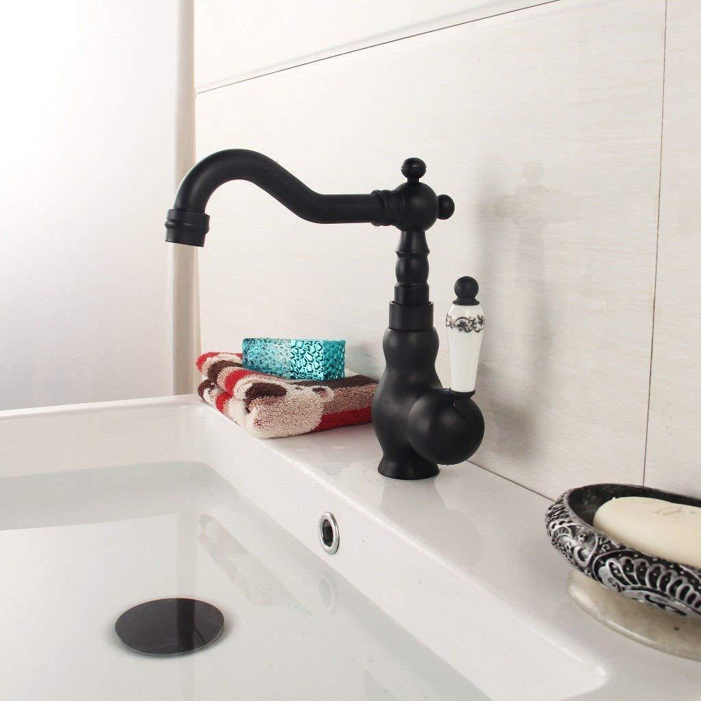 Eeayyygch Küchenarmatur Zeitgenössische Massivmessing heißes und kaltes Wasser Waschbecken Mischbatterie Wasserhahn Küchenarmatur als Ganzes (Farbe : -, Größe : -)