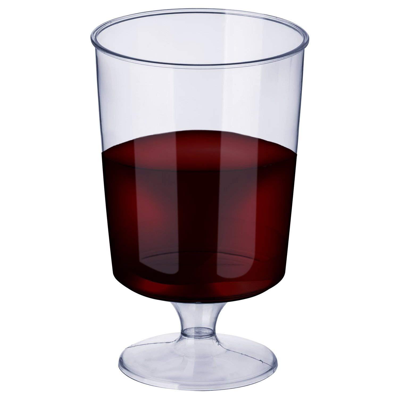 Infrangibile Monouso Natale. Calici da Vino per Catering Riutilizzabile e Riciclabile 100/% Feste Elegante Trasparente Come Vetro 50 PCS Bicchieri da Vino in Plastica Trasparente 180ml