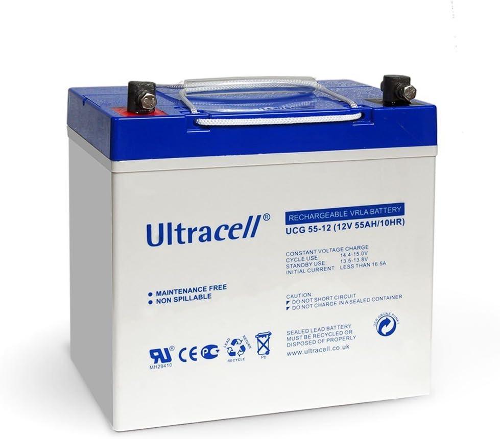 Batería Solar Gel Ultracell 12 V 45 Ah: Amazon.es: Bricolaje y herramientas