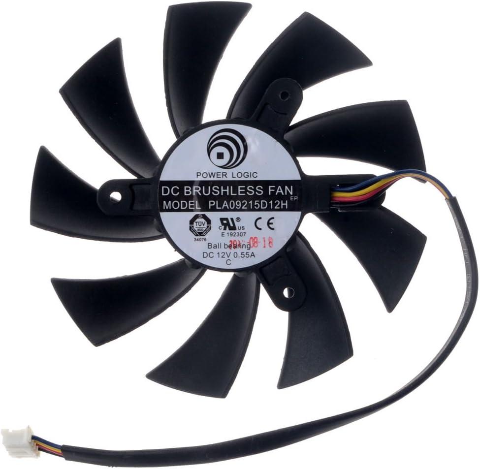 PLA09215D12H Graphics Card Fan 87mm DC 12V 0.55A 4-Pin Cooling Fan Brushless Fan for HD7870 HD7800 HD7850