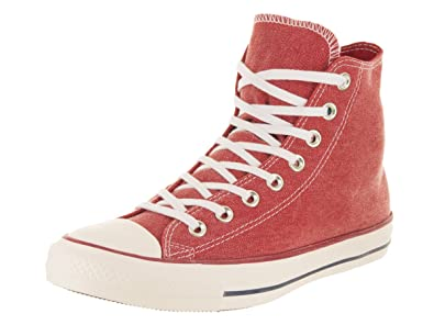 Converse Unisex Chuck Taylor All Star Hi Enamel Red Enamel Red White  Basketball Shoe 419d83415