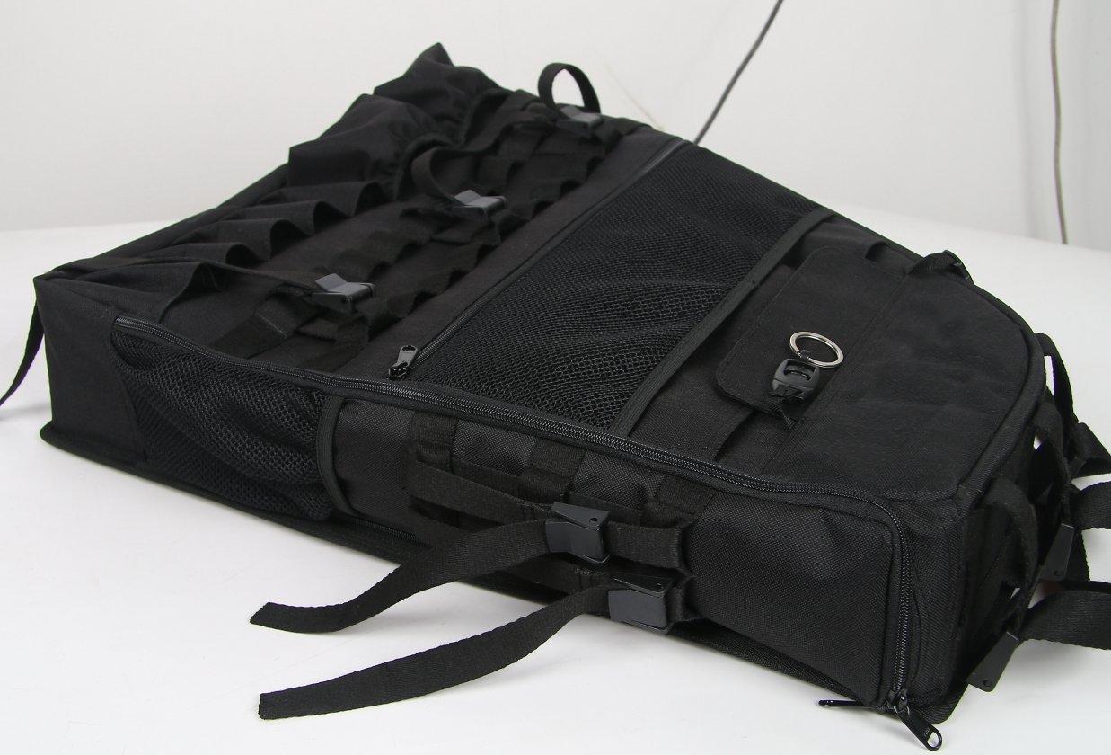 u-Box 2 x Roll Bar Storage Bag for 07-17 Jeep JK Wrangler Unlimited 4-Door with Multi-Pockets & Organizers & Cargo Bag Saddlebag Tool Kits