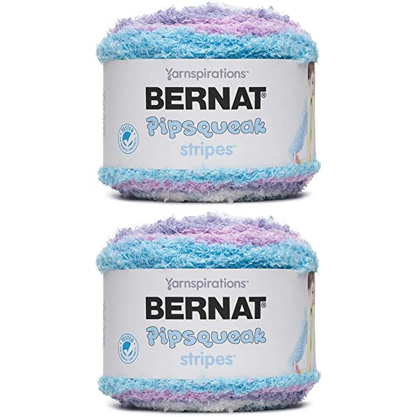 BERNAT BOX CAR PIPSQUEAK BULKY YARN 3 SHADES OF TURQUOISE LAVENDER /& PALE BLUE