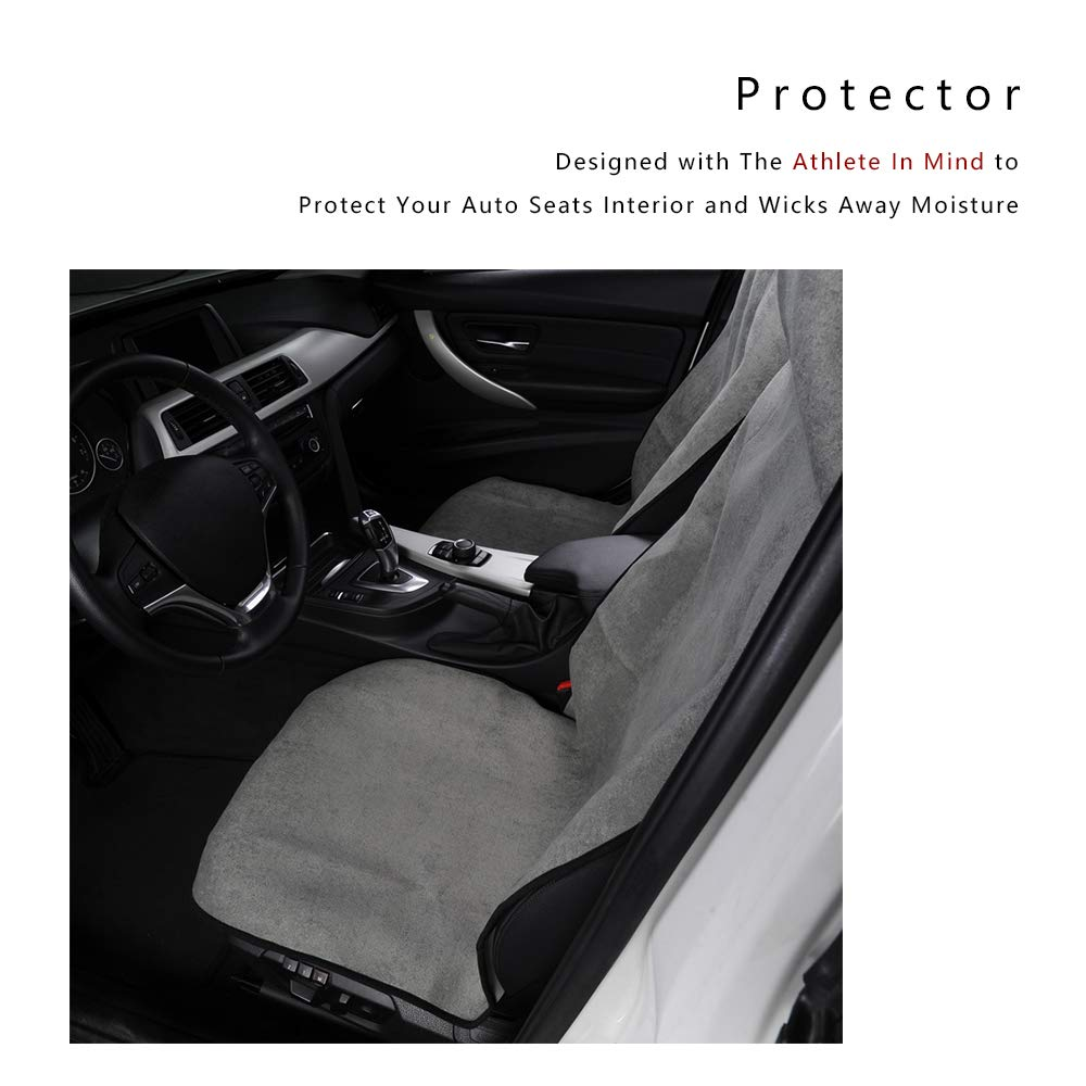 Sports Fitness Trucks SUV Sweat Absorption and Flash Drying in Summer Blue Beach Universal Fit for Most Cars 2PCS AUTOYOUTH 2PCS Towel Seat Cover Car Seat Mat for Yoga