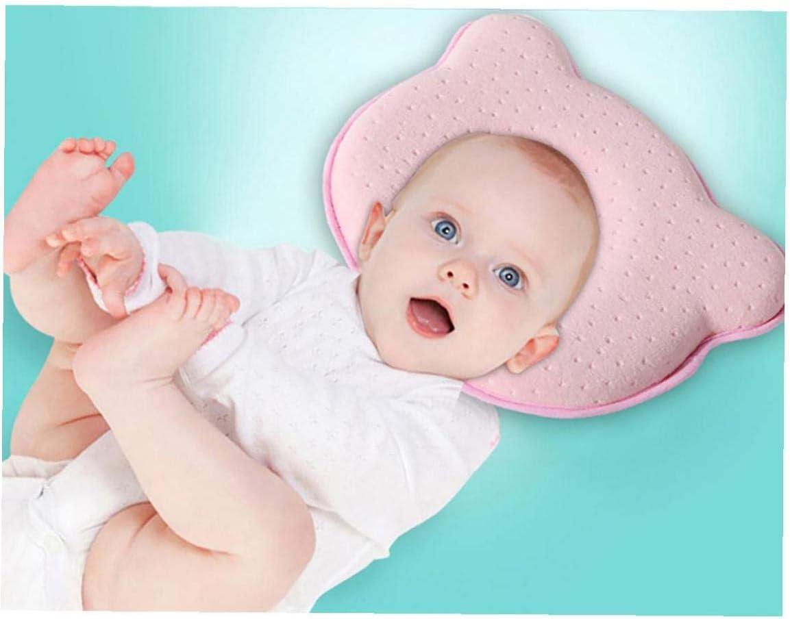 Styling Beb/é Almohada Anti-encabezamiento Almohada Almohada Del Reci/én Nacido Correcci/ón Cabeza Ni/ños rosa 1 Pc