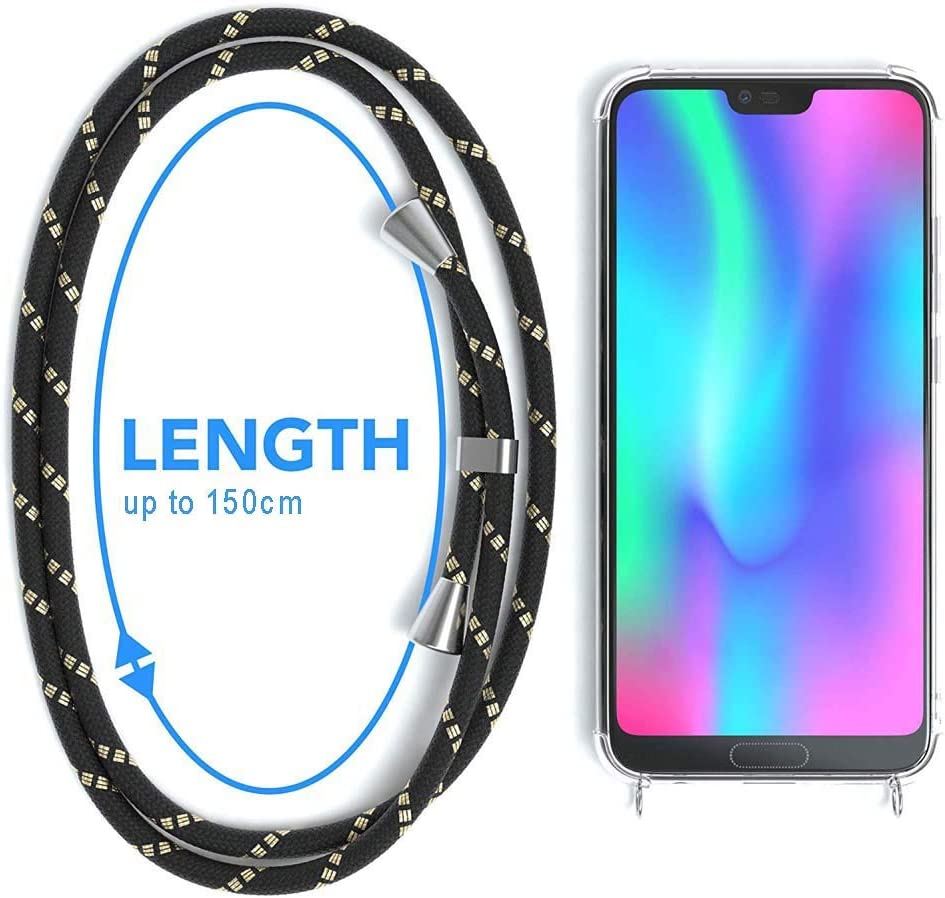 /étui de t/él/éphone avec Cordon YuhooTech Collier pour Huawei Honor 8X Coque Housse pour Smartphone Lanyard Case Holder Cover Necklace Bandouili/ère Styl/ée Tour de Cou Lani/ère en Corde