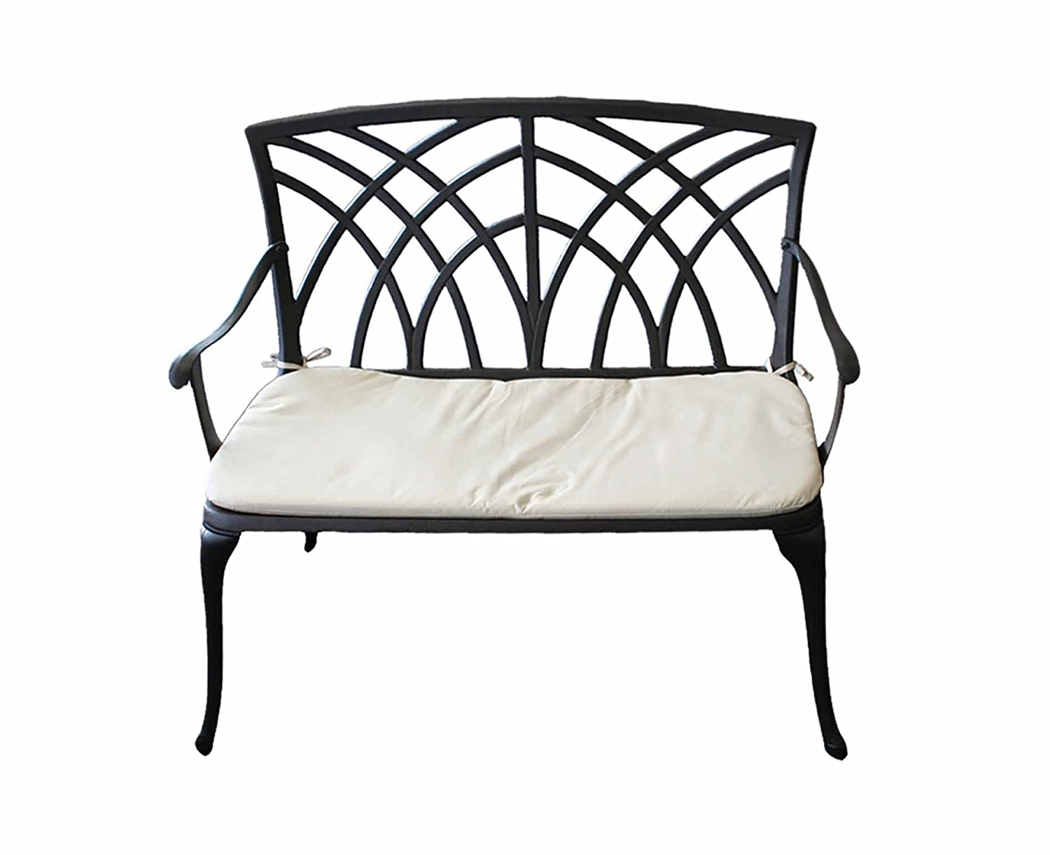 Charles Bentley Cast Aluminium Garden Bench 2 Seater - Color: Black
