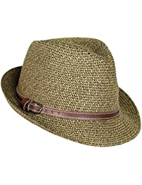 Straw Panama Hat, Tweed Fesitival Fedora With Faux Leather hatband, Packable