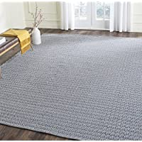 Safavieh Montauk Collection MTK717H Handmade Flatweave Ivory and Navy Cotton Area Rug (8 x 10)