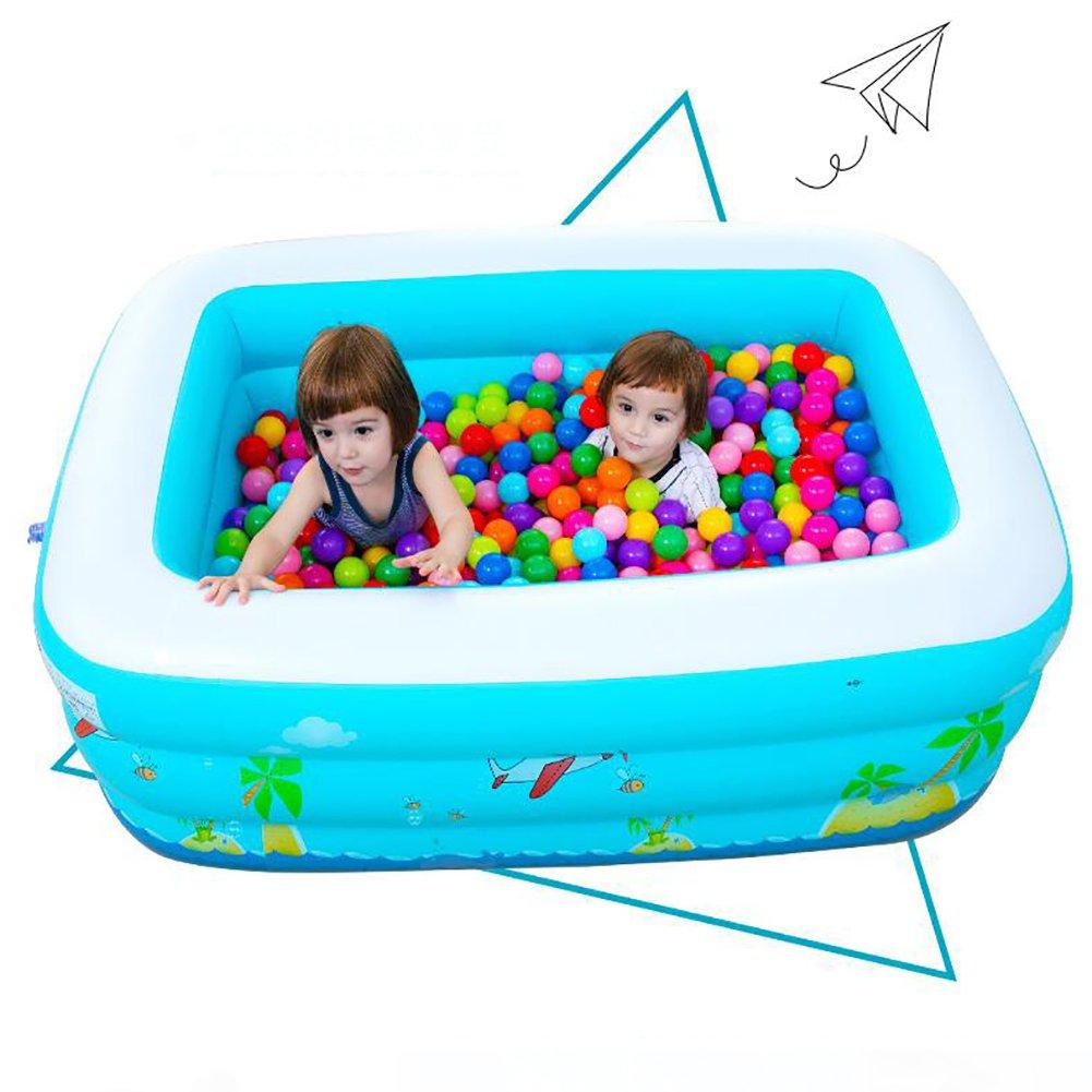 C L&J Aufblasbare Rechteckige Familie große- Schwimmbad, Pvc Planschbecken Für kinder ab 3 jahren-C
