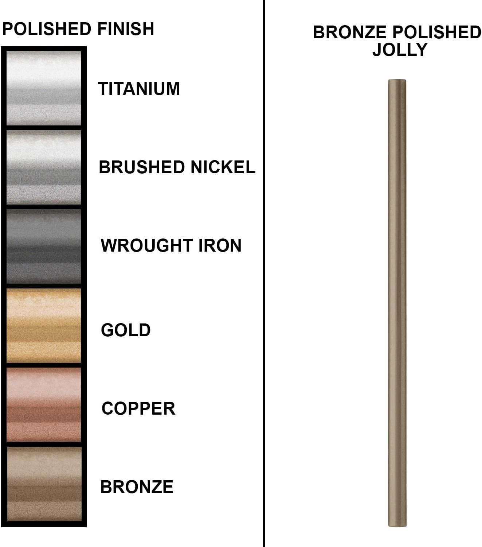 12 Pack, Gold Quarter Round Jolly 1//2 X 12 inch Tile Border Trim Metal Finish Molding Tile for Kitchen Bathroom Ceramic Tile Finishing