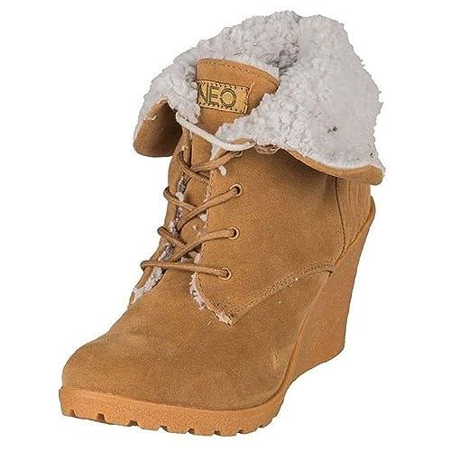 e4eebc465d94 adidas Women s Neo Chill Wedge Winter Warm Snow Boots  Amazon.co.uk ...