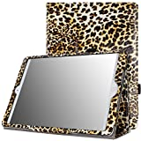 MoKo Apple iPad Air Cover Case - Slim Folding Case for Apple iPad Air / iPad 5 9.7 Inch 2013 Tablet, Leopard BROWN (With Auto Wake / Sleep, Not fit iPad Air 2)