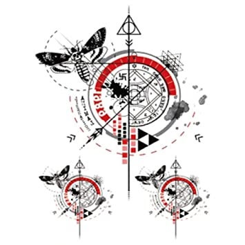 Etiqueta engomada del tatuaje del brazo de la flor Etiqueta ...