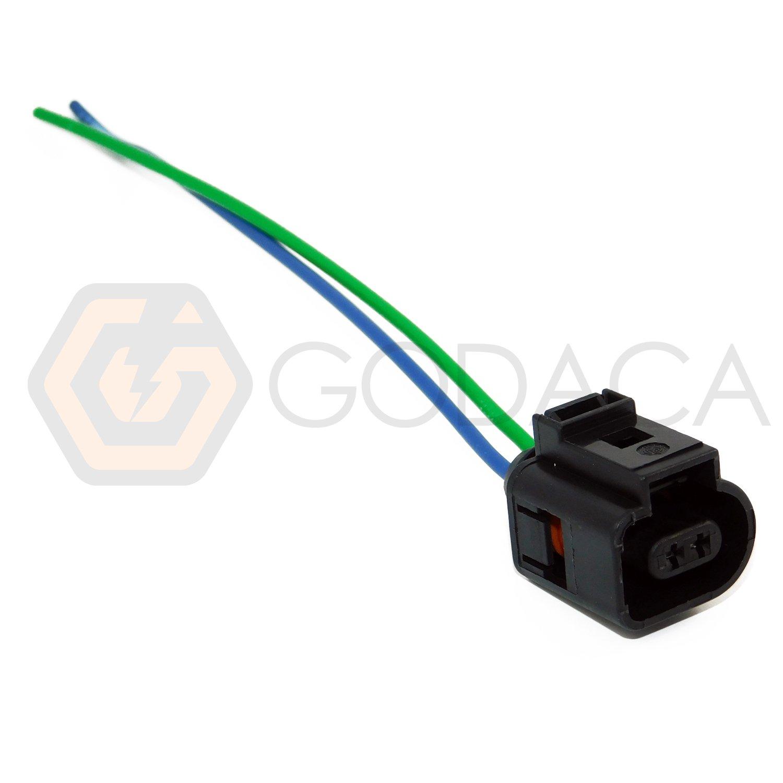 Amazon.com: 1x Connector 2-way 2 pin for Audi VW Temperature Sensor 1J0 973  702: Automotive