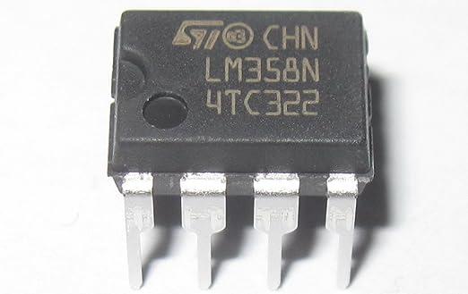 DIP8 20 Piezas LM358 LM358N LM358P Amplificadores Operacionales Dual Op-Amp