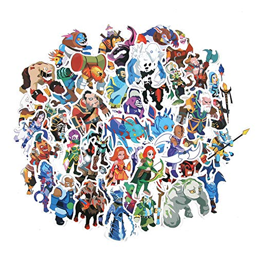Friends store 50 Pcs/Lot Steam Popular Game Dota 2 Stickers for Laptop Car Phone Luggage Cute Cartoon Stickers