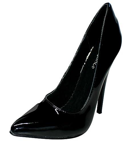 EROGANCE Lack High Heels Pumps schwarz EU 37 - 46 / A2924