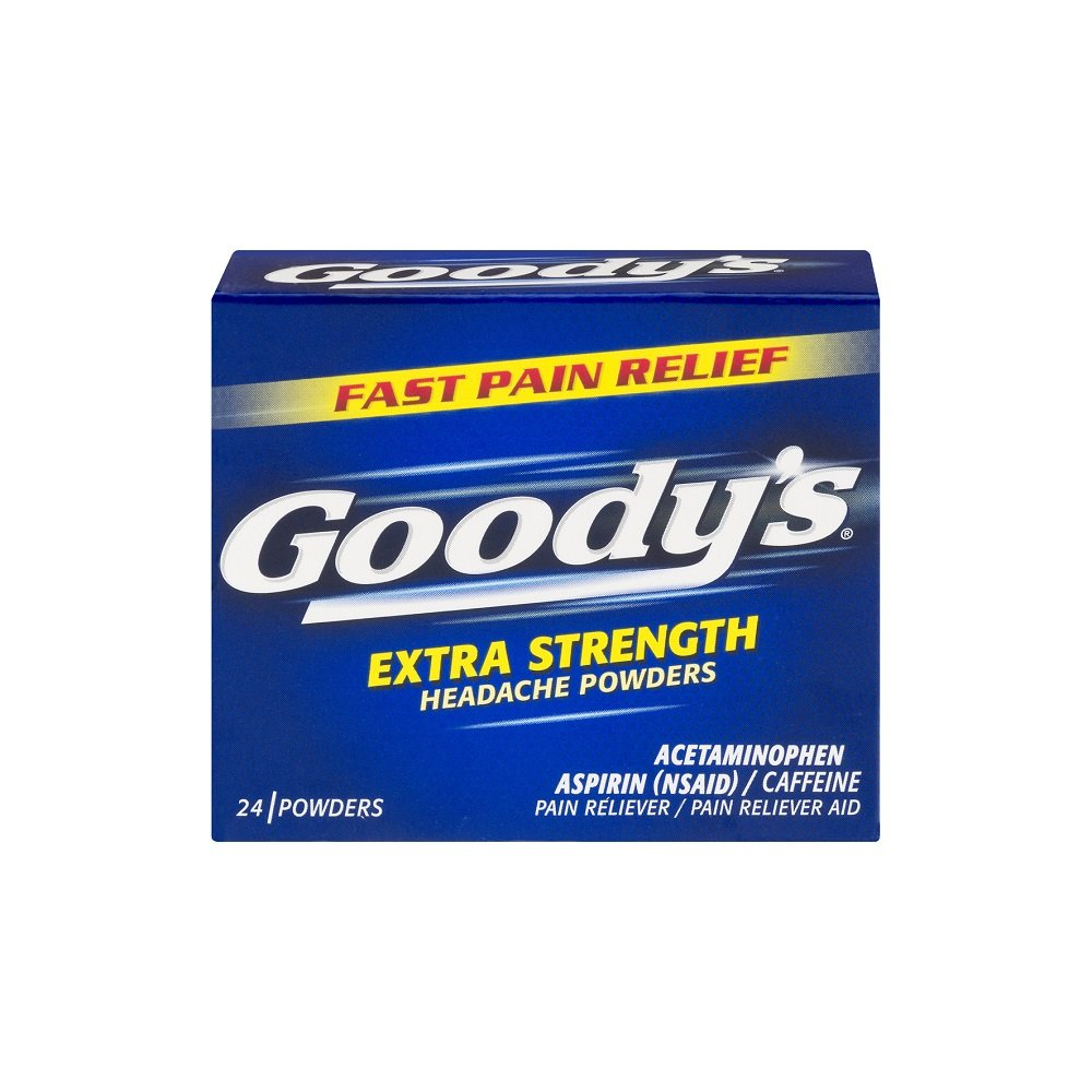 Goody's Extra Strength Headache Powders - Acetaminophen, Asprin, Caffeine Quickly Relieve Pain Due to Headaches, Body Aches, and Fever - 24 Powders