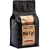 Boost Foodz - Big Cat Coffee - Symphoni - Artisan Fresh Roasted - Whole Beans - Gourmet Eastern Blend - Medium/Dark Roast - 100% Arabica Coffee - 500g Bag - Australian Made