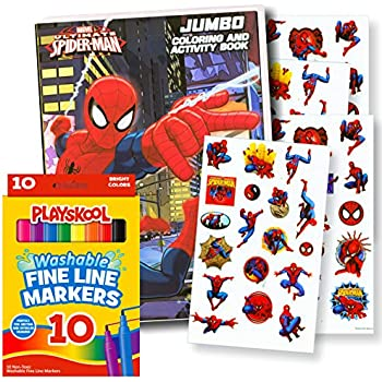 Amazon.com: Marvel Spiderman Coloring Book with Over 270 Spiderman ...
