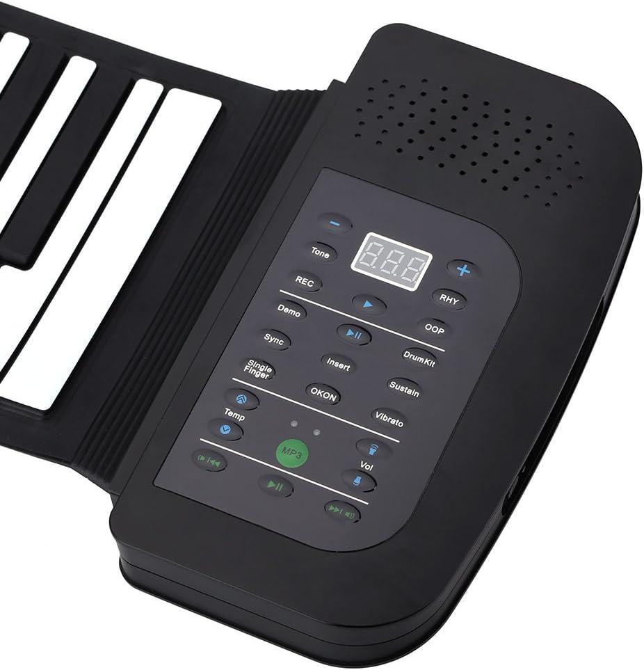 ammoon Roll Up Piano Teclado Portátil 88 Teclas Silicona Flexible ...