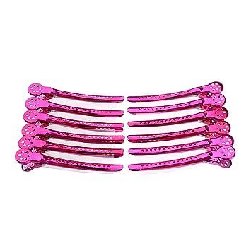 83f08470625 B Blesiya 12 Stück Haarklemmen Haarclips Friseur Clips Combi-Clip Friseur  Abteilklammern aus Metall -
