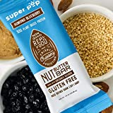 Super Pop Snacks, GLUTEN, SOY & DAIRY FREE, 10g Plant Based Protein, Almond Blueberry Protein Nut Butter Bar— 12 Pack
