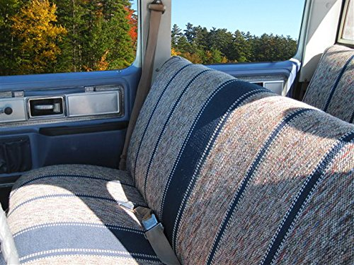 Chevrolet Blue Dodge West Coast Auto Universal Baja Saddle Blanket Bench Full Size Seat Cover Fits Ford and Full Size Pickup Trucks