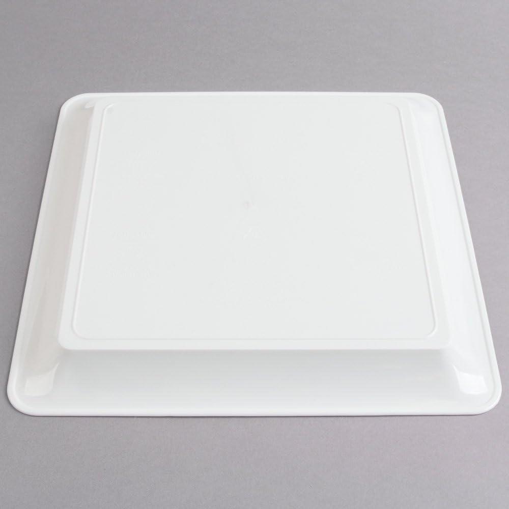 Lot de 3/carr/é Plastique rigide plateaux//plateaux de service plastique//plastique Plateau de nourriture/ /Blanc/ 30,5/x 30,5/cm /30/x 30/cm