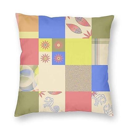 Amazon.com: AndrewTop Throw Pillow Covers Monkey Patchwork ...