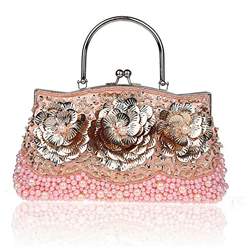 for Handbags Party Flower Pink Purse Crossbody Bags Evening Purse Cocktail Convertible Women 4ZwUUqdA