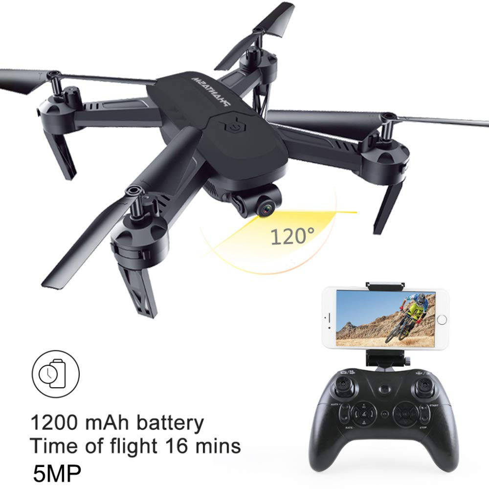 ERKEJI Drohne Drone Fernbedienung Vier-Achs Flugzeuge pneumatische Feste Höhe Spielzeug Flugzeug 1080p Übertragung in Echtzeit Luftbild WiFi FPV 5MP