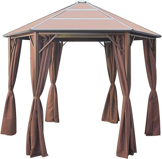 Festnight Cenador Estructura de Aluminio con Cortinas 310x270x265 cm Clásico Diseño: Amazon.es: Hogar