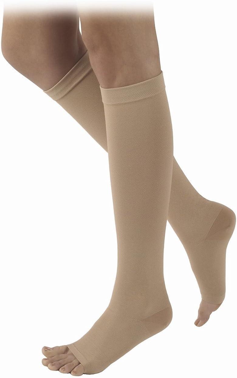 30-40 mmHg Full Sigvaris 503 Rubber Series Open Toe Knee Highs